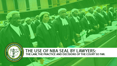 THE USE OF NBA SEAL BY LAWYERS