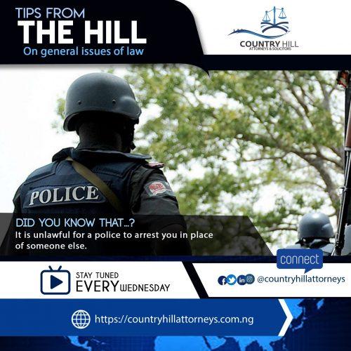 police unlawful arrest Nigeria